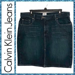 🆕Calvin Klein Jeans Women's Blue Jean Skirt